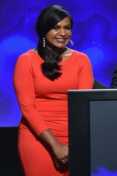 Pin for Later: This Week's Can't-Miss-Them Celebrity Photos  Mindy Kaling got the giggles as she announced the Primetime Emmy nominations on Thursday.