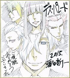 Death Parade | Death Billiards | Madhouse / Decim, Kurokami no Onna, Nona, Ginti, and Clavis