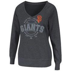 Majestic San Francisco Giants Ladies Take Control Fleece Pullover Sweatshirt - Charcoal $40