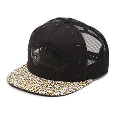 Leopard Stud Attendance Trucker Hat (31 AUD) ❤ liked on Polyvore featuring  accessories 63c37397f91