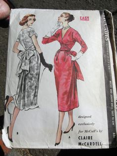 McCall's #4292 Dress By Clair McCardell