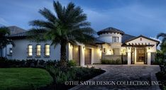 """Sater Design Collection's home plan """"Arabella"""" from our Mediterranean house plan portfolio l Luxury House Plans"""