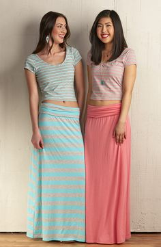 Mix and match crop tops and maxi skirts are perfect for spring. #MeijerStyle