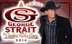 George Strait cowboy rides away tour Atlanta or Nashville = )
