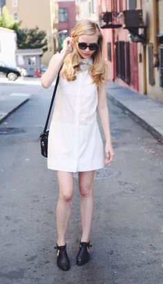 How to look like a #Chic #French #Girl: See @Jessi Parrett de Bergerac  in the Amatoria Shirtdress