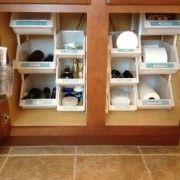bathroom organization- interesting idea