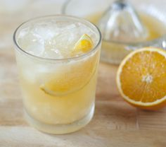 orange ginger gin fizz