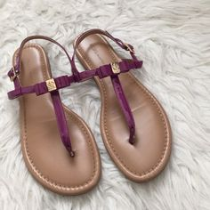 Sandals BCBG Purple sandals by BCBG only worn a couple of times. Marks from walking on the bottoms but still in very good condition. BCBGeneration Shoes Sandals