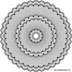 Don't Eat the Paste: Intricate mandala to color