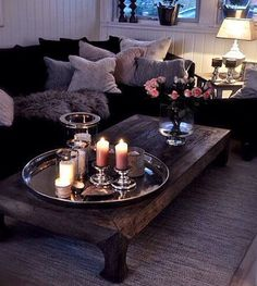 living room candles for lighting