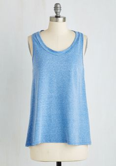 Breezy Expertise Top. Youve got a cool confidence for subjects galore, and with a particular penchant for fashion, you show what you know when flaunting this split-back tank! #blue #modcloth