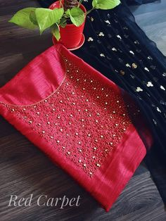 Call Or whatsApp 9035330901 for hand embroidery UNSTITCHED materials customization. Embroidery On Kurtis, Hand Embroidery Dress, Kurti Embroidery Design, Embroidery Neck Designs, Bead Embroidery Patterns, Beaded Embroidery, Salwar Neck Designs, Kurta Neck Design, Blouse Designs