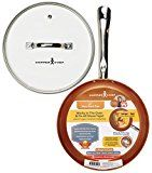 #7: Tristar Products KC15057-02000 Round Chef Pan with Glass Lid 10 Copper