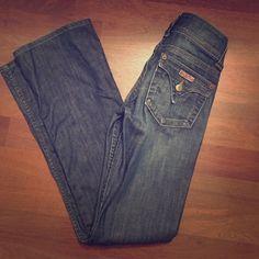 Hudson boot cut denim Hudson dark denim, size 24 boot cut. Inseam 30 Hudson Jeans Pants Boot Cut & Flare