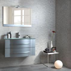 Bathroom_Herberia Urban walltile grey 25x60, mix mosaic grey. Bagno_Herberia serie Urban, rivestimento grey 25x60, mosaico mix grey.