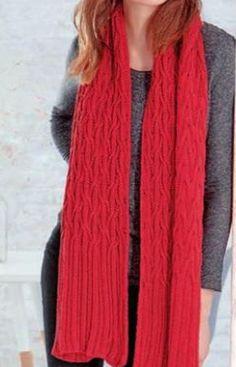 Двусторонний шарф с косами