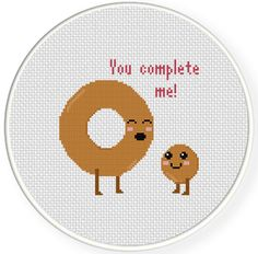 FREE for July 3rd 2014 Only - You Complete Me Cross Stitch Pattern