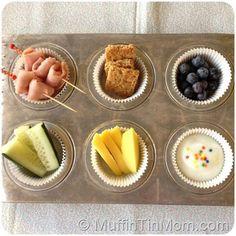 Deli Ham, Granola, Blue Berries, Cucumbers, Mangos, Yogurt w/ Sprinkles