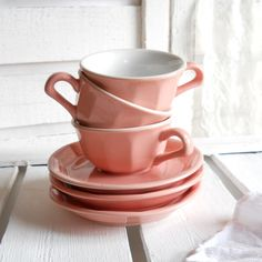Vintage coffee cups and saucers