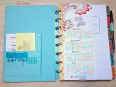 diy disc bound planner | The pockets on the left side are nice sizes. They work great for ...