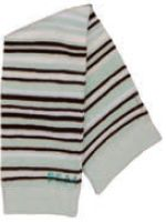 Sea foam green, white and brown striped legwarmers are too cute for baby boys or baby girls.  One size fits all.