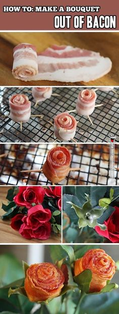 Bacon bouquet for the extra sweet mornings I feel like loving him