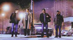 Dean, Cas, Sam and Bobby