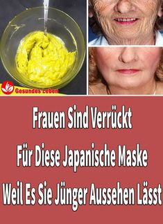 Women are crazy for this Japanese mask because it makes them look younger , Do you want to remove wrinkles on your face and look younger? Today we propose a recipe to remove facial wrinkles with completely natural ingredients. Japanese Mask, Make Up Tricks, Face Wrinkles, Les Rides, Wrinkle Remover, Look Younger, Facial Care, Tips Belleza, Diy Skin Care