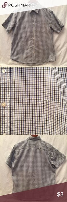 Men's Gap Button Up Blue, black and white short sleeved button up {2} GAP Shirts Casual Button Down Shirts