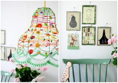 love the simplicity, and throws out lots of light from a low-energy bulb too! pendant light diy #upcycle