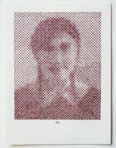 """""""Master of embroidery Evelin Kasikov recently began a new project involving cross stitched portraits. Using an identical grid, each image is created using a mix of geometric stitching styles and thread of varying color and thickness that results in these beautifully pixelated faces."""""""