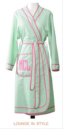 Leontine Bathrobes- GREAT graduation gift for those graduates in your life.