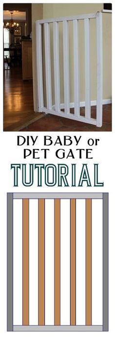 DIY Baby and Dog Gate Instructions -