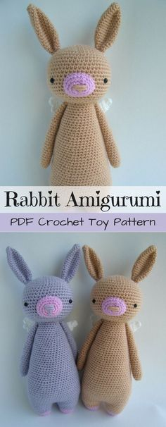 Make your own Easter bunny! Such a fun amigirumi crochet toy rabbit pattern! Love the shape of this cute DIY stuffed animal! Easy to follow pattern to make this stunning stuffed toy. #etsy #ad #amigurumi