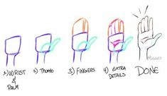 Hand Drawing Reference, Art Reference Poses, Drawing Techniques, Drawing Tips, Drawing Hands, Drawing Stuff, Drawing Ideas, Gesture Drawing, Anime Hand