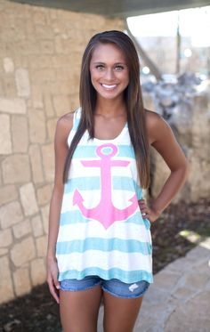 The Pink Lily Boutique - Anchor To My Soul Tank, $28.00 (http://thepinklilyboutique.com/anchor-to-my-soul-tank/)