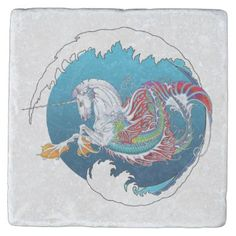 2017 Mink Nest Hippicorn Stone Coaster 2 - home gifts ideas decor special unique custom individual customized individualized