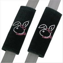 Cute, girly Bunny Play Girl rhinestone crystal car seat belt should pad. Crystal Art car accessories for girls. Car Girls, Girl Car, Antique Cars For Sale, Seat Belt Pads, Car Accessories For Girls, Suv Cars, Shoulder Pads, Crystal Rhinestone, Diy Design