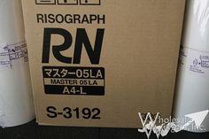 Riso S3192 Duplicator Masters