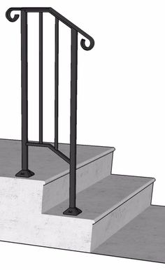 Handrails For Outside Steps Railings For Stairs