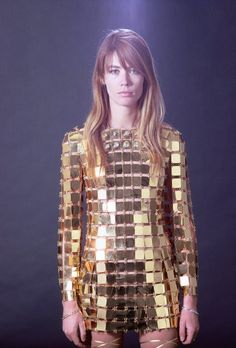 francoise hardy in paco rabanne.1960's fashion. Mod