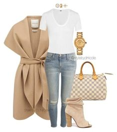 """Untitled by stylebydnicole ❤ Forever New, Louis Vuitton, Helmut Lang, Current/Elliott, Kristin Cavallari and Versace Fashion Mode, Look Fashion, Autumn Fashion, Womens Fashion, Fashion Trends, Ladies Fashion, Spring Fashion, Classy Fashion, Cheap Fashion"