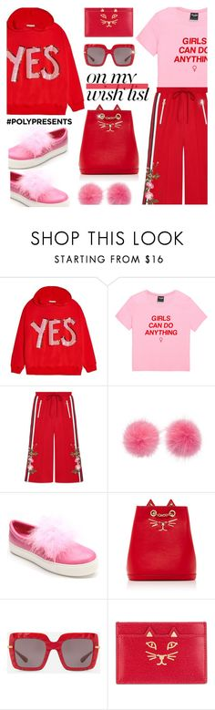 """Holiday Wish List"" by rasa-j ❤ liked on Polyvore featuring Alice + Olivia, Gucci, Wild & Woolly, Penny Loves Kenny, Charlotte Olympia, Dolce&Gabbana, contestentry, womensFashion and polyPresents"