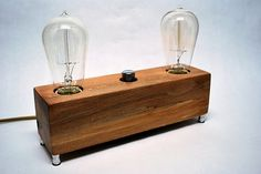 The Menlo Park Lamp Dual Edison Bulb in Ambrosia by TheDapperLlama, $160.00