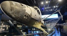 US space shuttle Atlantis displayed at the NASA's John F.Kennedy Space Center on Cape Canaveral, Florida