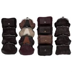 """Your Wholesale Dropship Source - LUCPDSP24Adorably petite and incredibly fashionable a classic coin purse is a fun way to keep your small items contained. This display offers a wealth of options in basic black and brown so theres a style for virtually any occasion. Includes 6pc 5"""" x 4-1/8"""" design with 3 interior compartments 6pc 5"""" x 3-7/8"""" design with dual"""