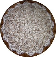 Joy - Round Tableloth In Knitted Lace - By Herbert Niebling