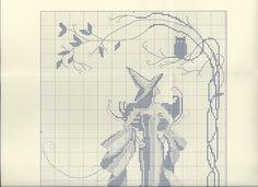Todo Mirabilia (pág. 185) | Aprender manualidades es facilisimo.com Dragon Cross Stitch, Fantasy Cross Stitch, Cross Stitch Fairy, Cross Stitch Angels, Modern Cross Stitch, Cross Stitch Charts, Cross Stitch Designs, Cross Stitch Patterns, Cross Stitching
