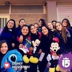 Las chicas del Nazaret más cerca de #Disney con #Transatlántica #Enjoy15
