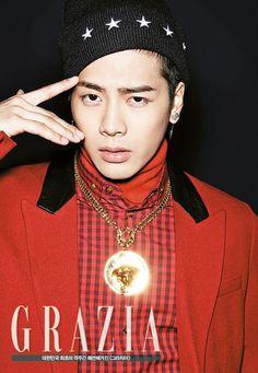 Jackson (GOT7)séance photo pour le magazine de mode GRAZIA Korea
